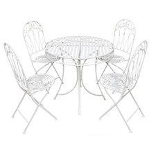Romance 5 Piece Round Dining Set