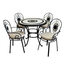 Rimini 5 Piece Round Dining Set