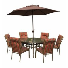 Amalfi 7 Piece Rectangle Dining Set