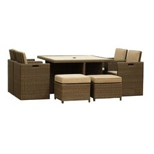 St Tropez 9 Piece Square Dining Set