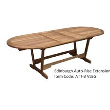 Edinburgh Double Extension Oval Hardwood Dining Table