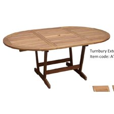 Turnbury Extension Oval Hardwood Dining Table