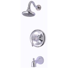 Signature Pressure Balance Tub and Shower Faucet with Single Lever Handle