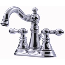 <strong>Ultra Faucets</strong> Victorian Series Centerset Bathroom Faucet with Double Handles