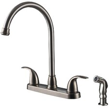 <strong>Ultra Faucets</strong> Two-Handle Centerset Kitchen Faucet with Matching Side Spray