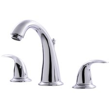 <strong>Ultra Faucets</strong> Two Handle Bathroom Widespread Faucet