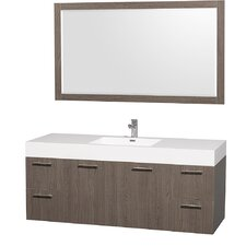"<strong>Wyndham Collection</strong> Amare 60"" Single Vanity Set"