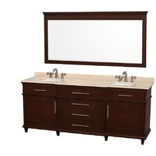 "Berkeley 80"" Double Vanity Set"