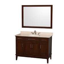 "Hatton 48"" Single Bathroom Vanity Set with Mirror"