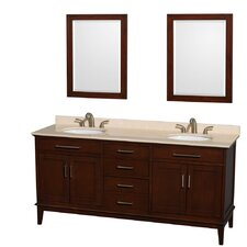 "Hatton 72"" Double Bathroom Vanity Set with Mirror"