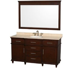 "<strong>Wyndham Collection</strong> Berkeley 60"" Single Vanity Set"