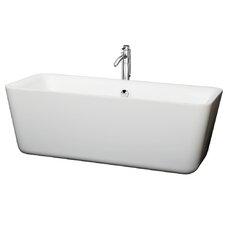 "Emily Center Drain 69"" x 30"" Soaking Bathtub"