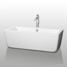 "Laura Center Drain 59"" x 27"" Soaking Bathtub"