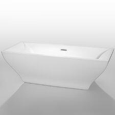 "Maryam 70.75"" x 31.25"" Soaking Bathtub"