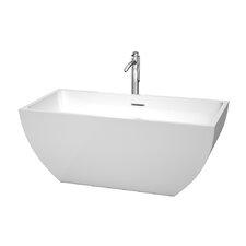 "Rachel Center Drain 59"" x 29.5"" Soaking Bathtub"