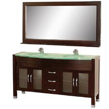<strong>Wyndham Collection</strong> Daytona Double Bathroom Vanity Set