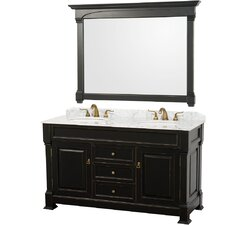 "<strong>Wyndham Collection</strong> Andover 60"" Double Bathroom Vanity Set"