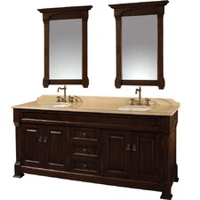 "Andover 72"" Double Bathroom Vanity Set"