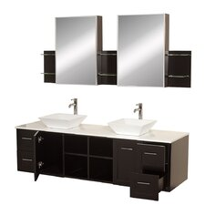 "Avara 72"" Double Bathroom Vanity Set with Mirror"