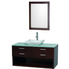 "<strong>Wyndham Collection</strong> Andrea 48"" Wall-Mounted Bathroom Vanity Set"