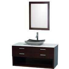 "Andrea 48"" Wall-Mounted Bathroom Vanity Set"
