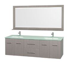"<strong>Wyndham Collection</strong> Centra 72"" Double Bathroom Vanity Set"