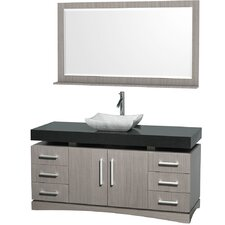 "<strong>Wyndham Collection</strong> Monterey 60"" Single Bathroom Vanity Set"