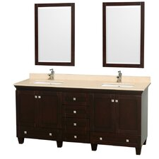 "<strong>Wyndham Collection</strong> Acclaim 72"" Double Bathroom Vanity Set"