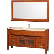 "<strong>Wyndham Collection</strong> Daytona 60"" Single Vanity Set"