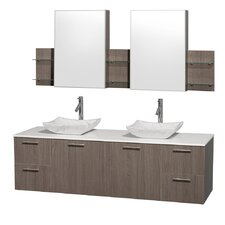 "<strong>Wyndham Collection</strong> Amare 72"" Double Bathroom Vanity Set"