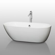 "Melissa 65"" White Soaking Bathtub"