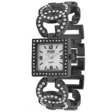 Women's Simply Inspired Pearl Dial Watch in Gun