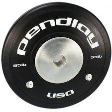 <strong>Pendlay</strong> 55 lb Elite Black Bumper Plates in White Ink (Set of 2)