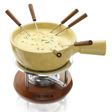 <strong>Boska Holland</strong> Cheesy Fondue in Mahogany Wood