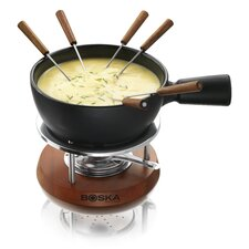 <strong>Boska Holland</strong> Cheese Fondue Nero in Mahogany Wood