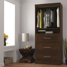 "Pur 18.2"" Deep Storage Unit with 3 Drawer Set"