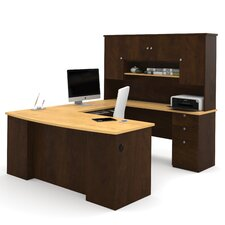 Manhattan U-Shape Executive Desk with Hutch