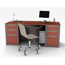 Connexion Executive Desk Kit Including Assembled Pedestals