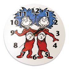 Dr. Seuss™ Thing 1 and Thing 2 Wall Clock