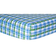 Plaid Print Crib Sheet