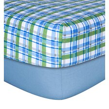 Solid Plaid Flannel 2 Piece Crib Sheet Set