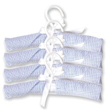 Gingham Seersucker Four Piece Padded Hangers in Blue
