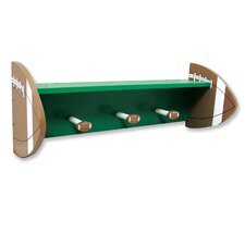 Football Shelf with Peg Hooks