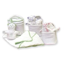 <strong>Trend Lab</strong> Terry Velour Bath Bag Set with Gingham Seersucker Trim