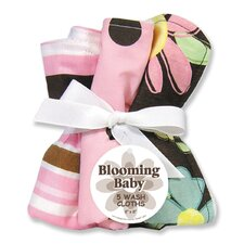 <strong>Trend Lab</strong> Blossoms Five Piece Terry Wash Cloth Set