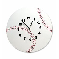 "Baseball 12"" Wall Clock"