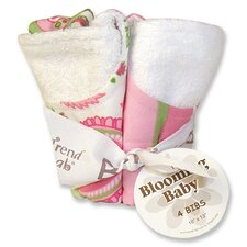 <strong>Trend Lab</strong> Paisley Park Blooming Bouquet 4 Pack Bib Set