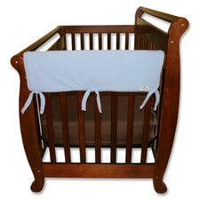 "2 Pack of 27"" Blue Fleece Side Crib Rail Cover"