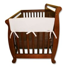 "<strong>Trend Lab</strong> 2 Pack of 27"" White Fleece Side Crib Rail Cover"