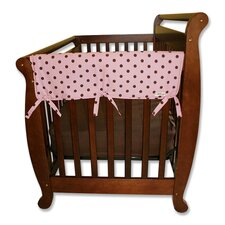 "2 Pack of Maya Dot 27"" Side Crib Rail Covers"